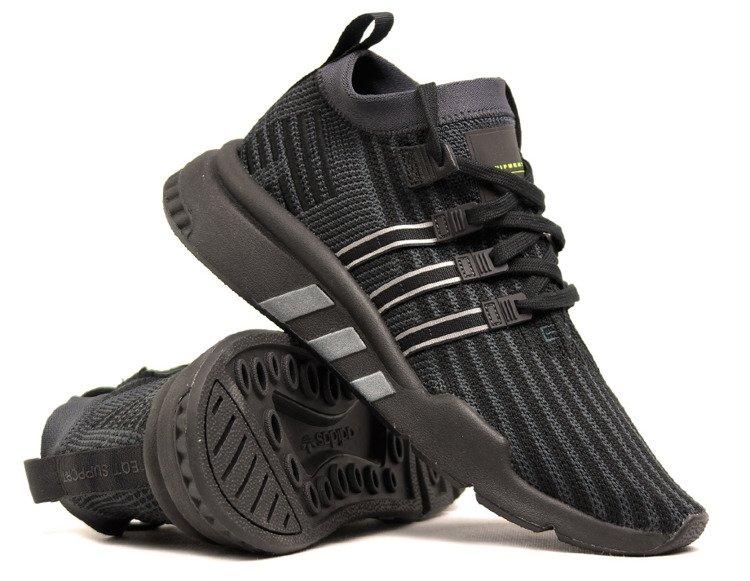 Men's adidas EQT Support Mid ADV Primeknit Shoes Black B37456