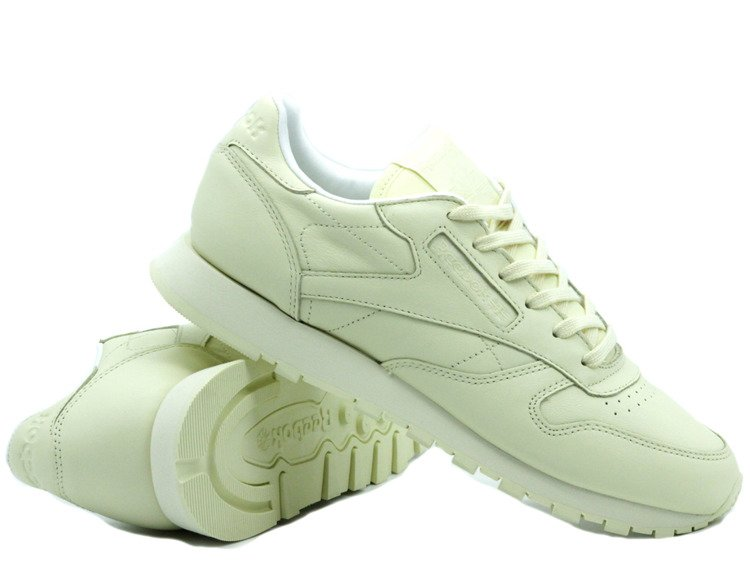BEST PRICE! REEBOK CLASSIC LEATHER PASTELS WASHED YELLOWWHITE (BD2772)