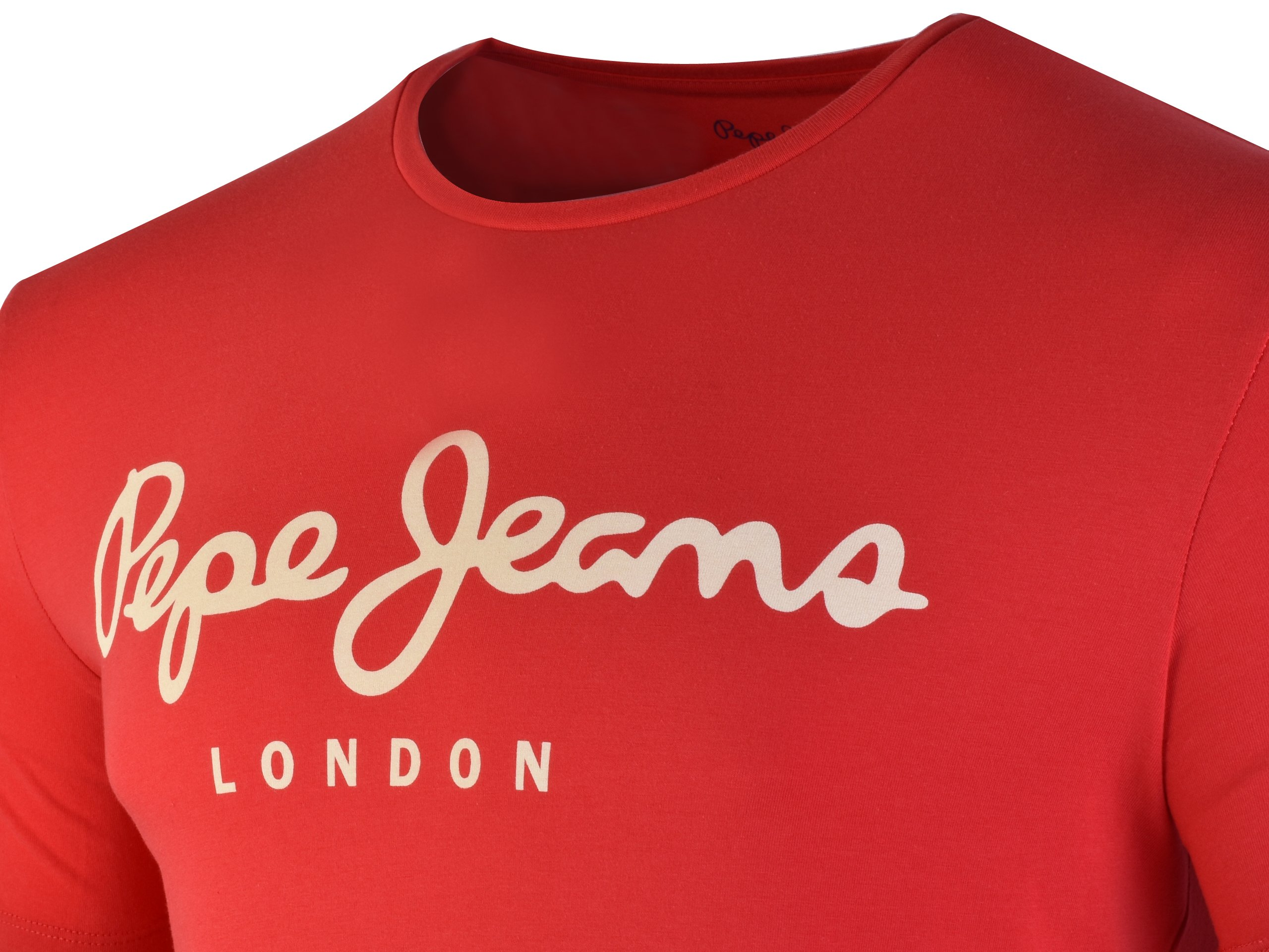 Pepe Jeans London Pm501594 254 T Shirt Red Czerwony Mens Pepe Jeans Kicks Sport A Trusted Supplier Of Branded Sports Footwear