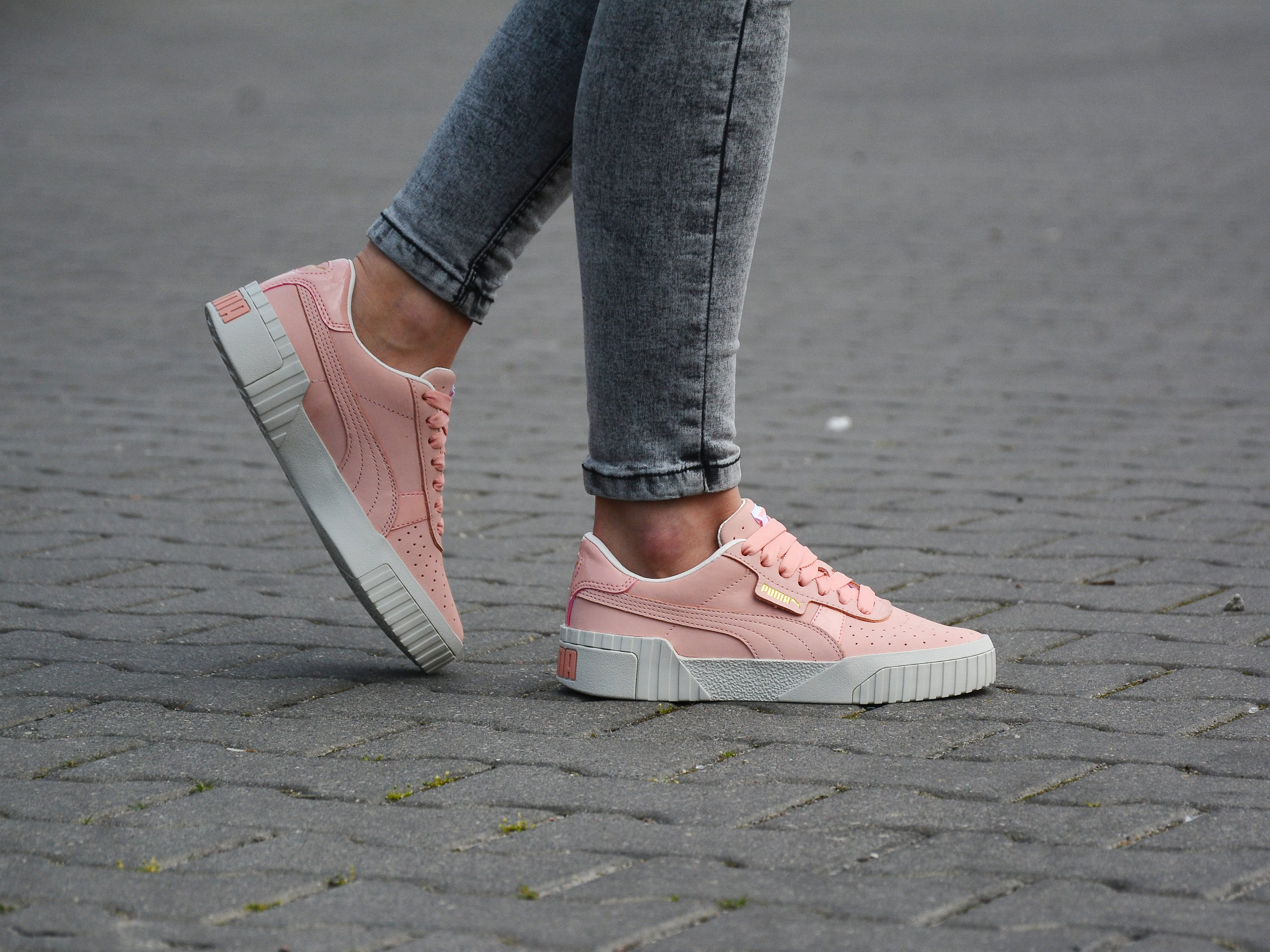 Puma - Cali Nubuck 369161-01 - Sneakers - Pink Różowy-biały | Mens ...