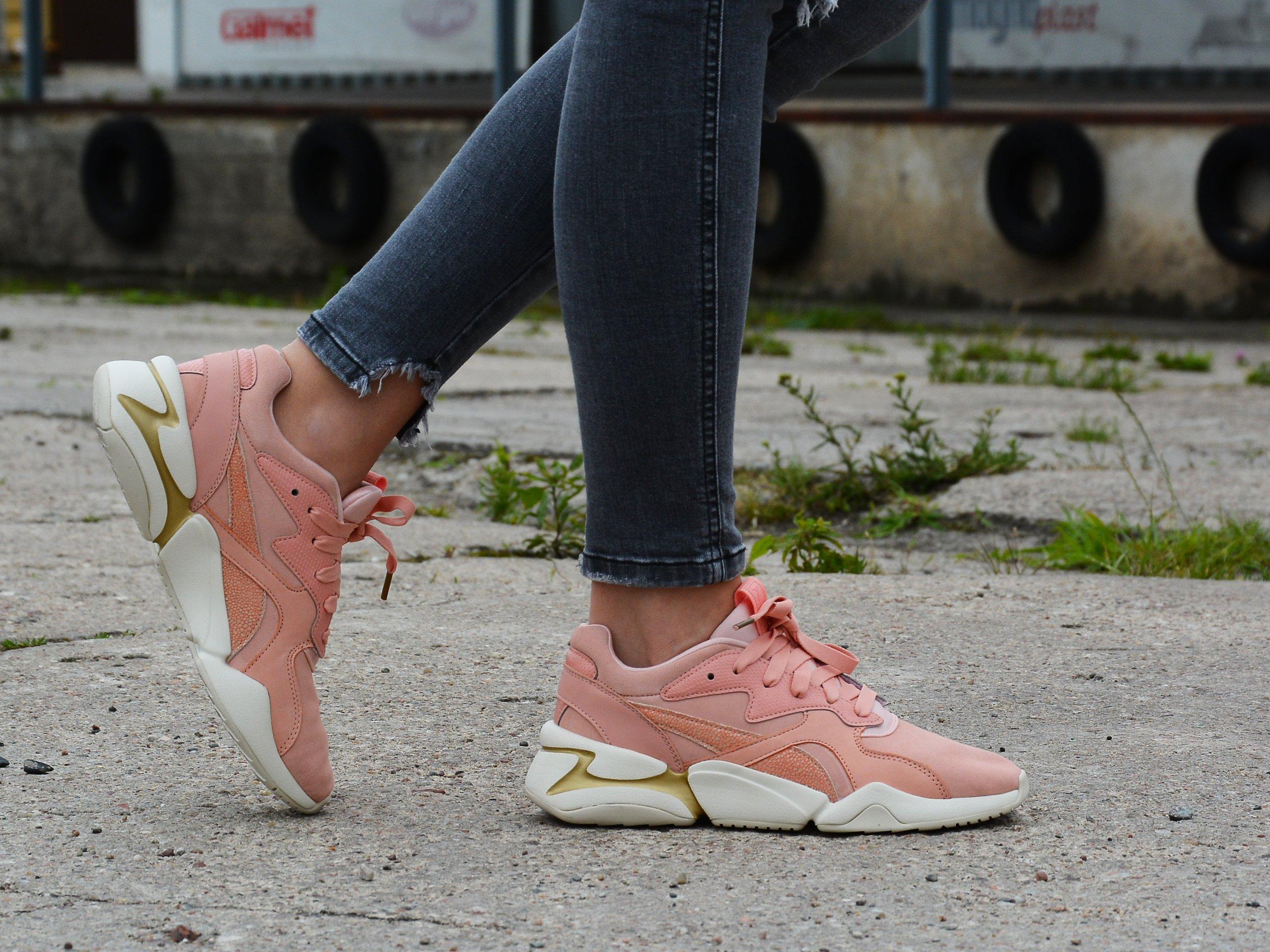 Puma - Nova Pastel Grunge 369487-03 - Sneakers - Pink Łososiowy ...