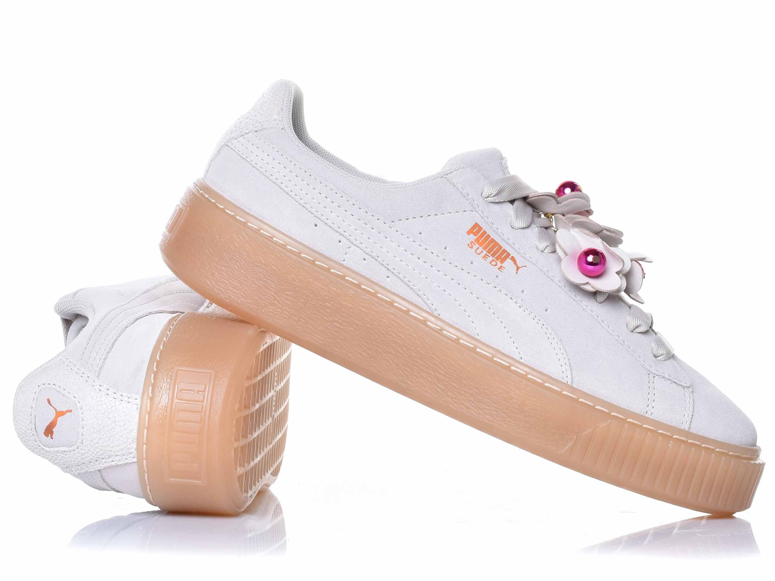 Puma - Platform Flower Tassel 369181-01 - Sneakers - Grey ...