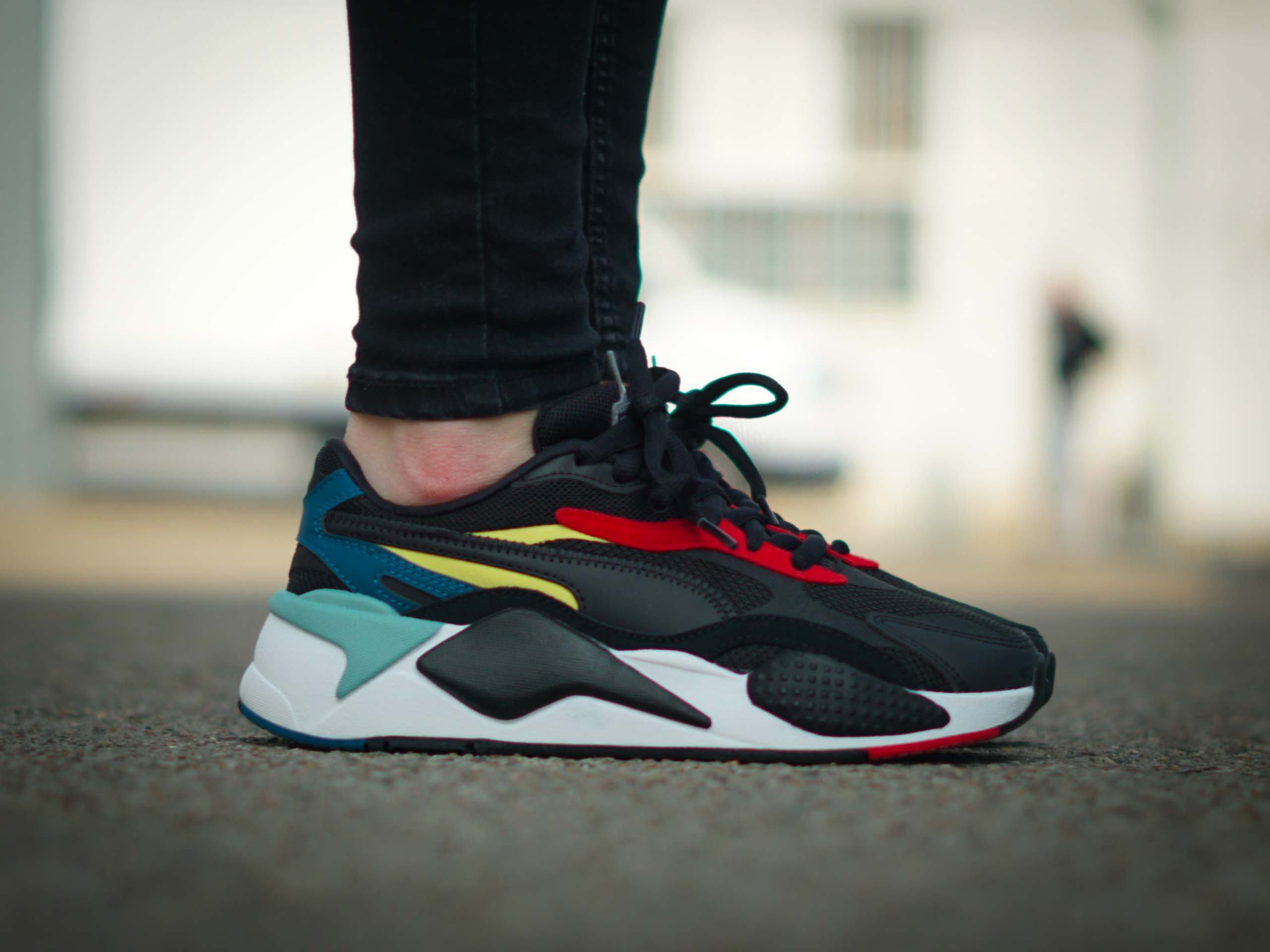 Puma - RS-X3 Puzzle 371570-25 - Sneakers - Black / White / Red ...