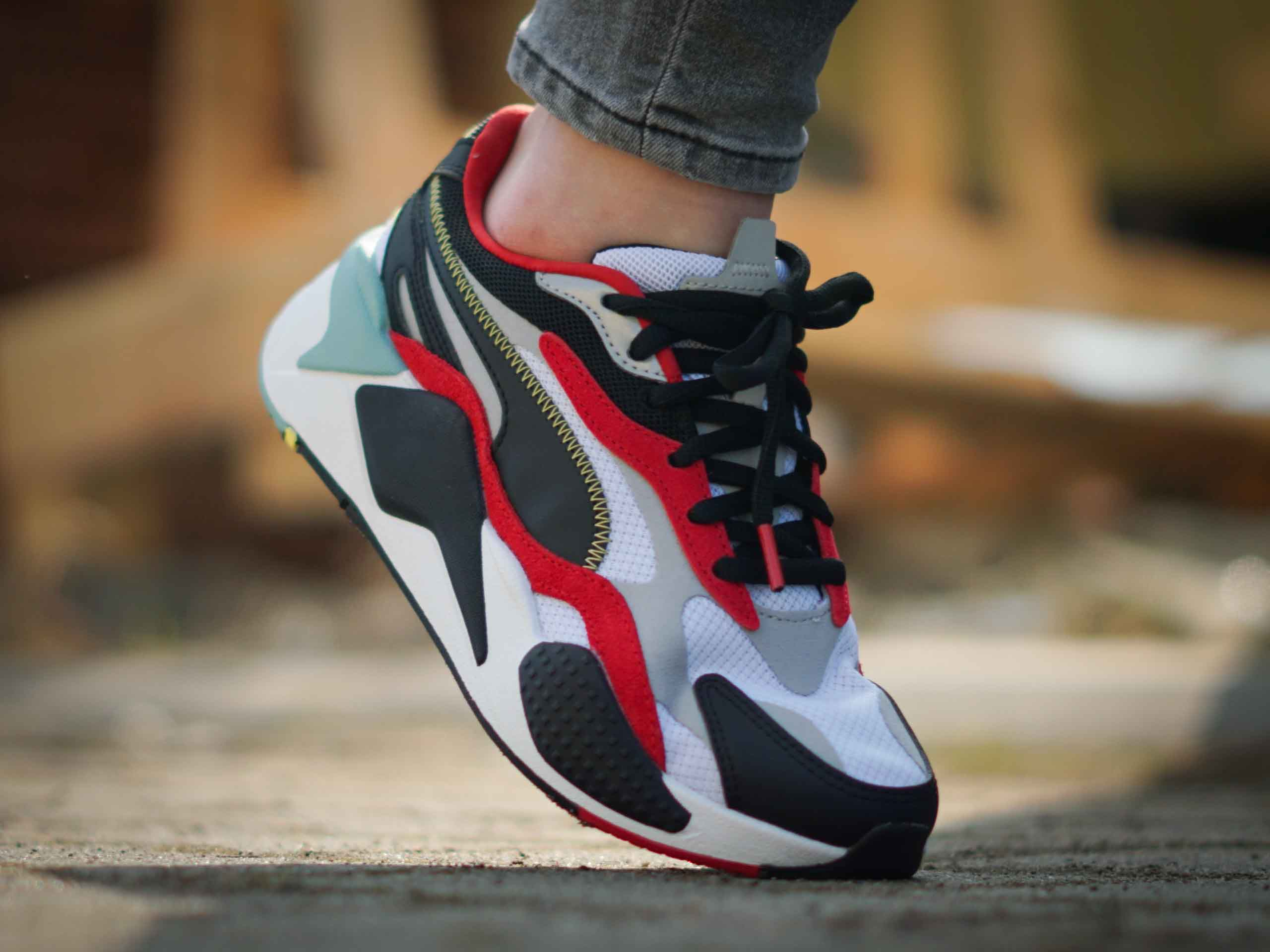 Puma - RS-X3 Puzzle 371570-27 - Sneakers - White / Red / Black ...