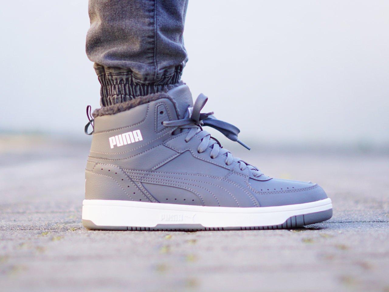 Puma - Rebound Joy Fur 375576-02 - Sneakers - Grey Granatowy ...