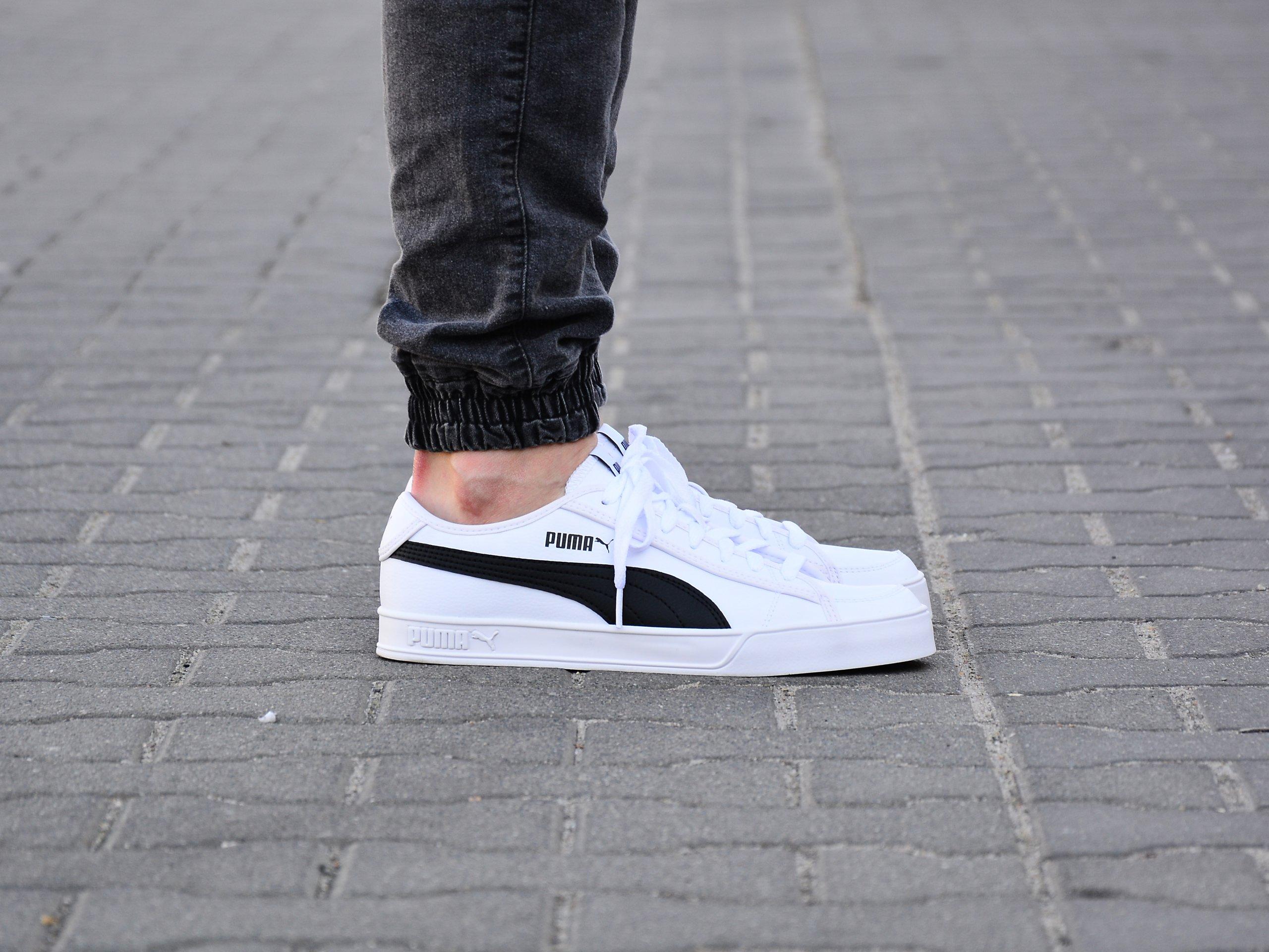 Puma - Smash v2 Vulc SL 367308-02 - Sneakers - White / Black ...