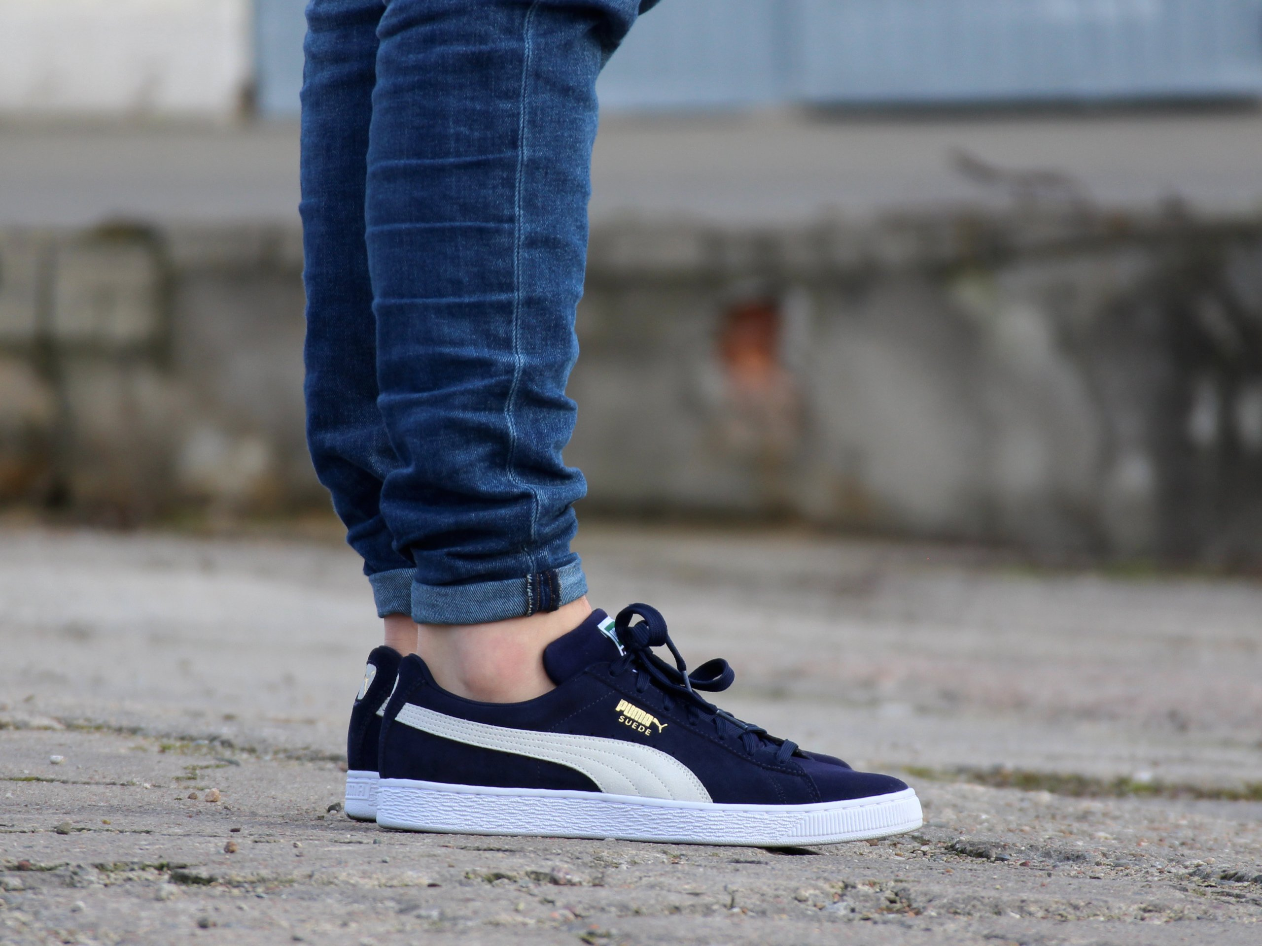 Puma - Suede Classic 356568-51 - Sneakers - Navy / White   Mens ...