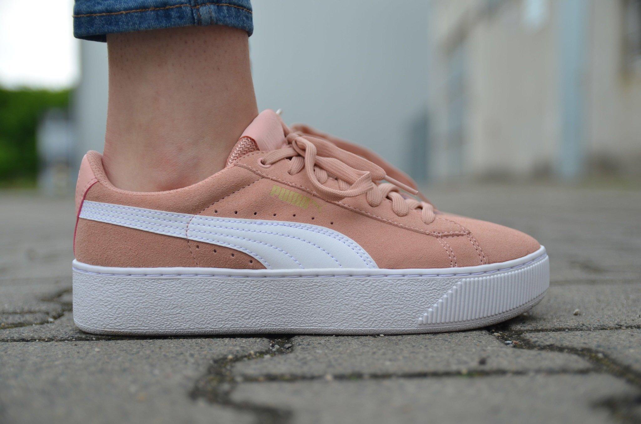 Puma - Vikky Platform 364046-04 - Sneakers - Pink Pudrowy róż ...