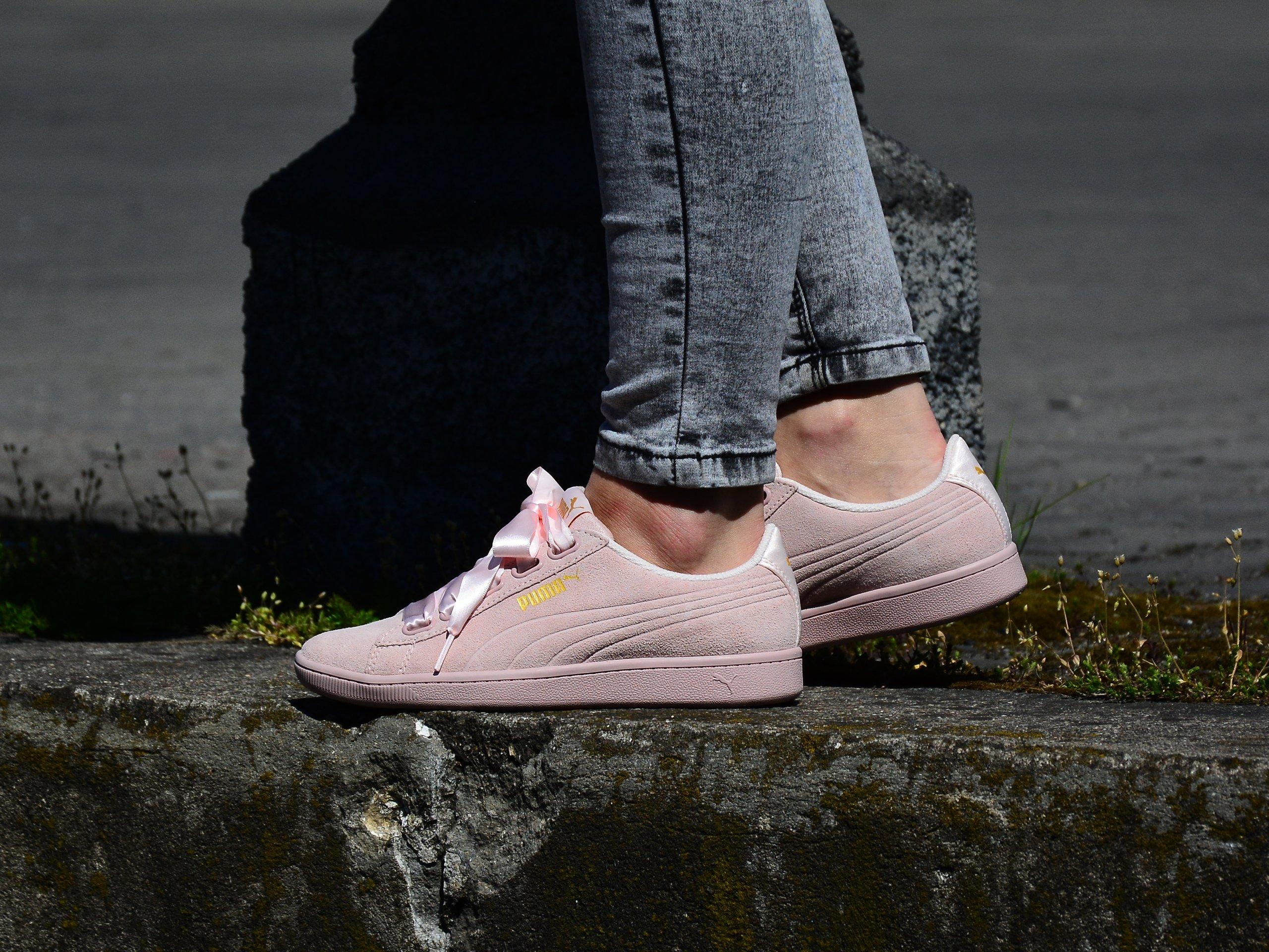 Puma - Vikky Ribbon S 366416-03 - Sneakers - Pink Różowy | Womens ...