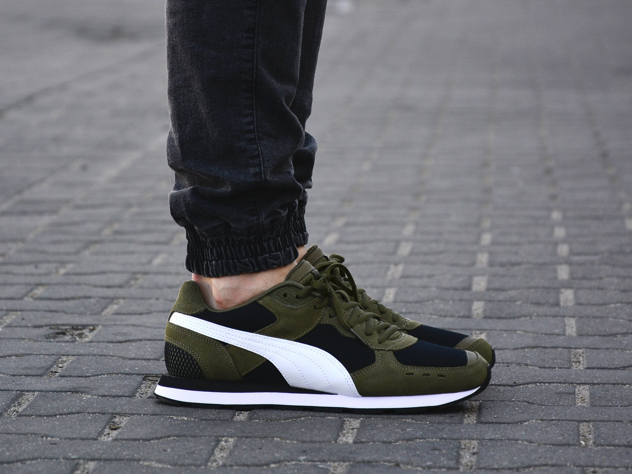 Puma - Vista 369365-08 - Sneakers - Green / Black / White | Mens ...