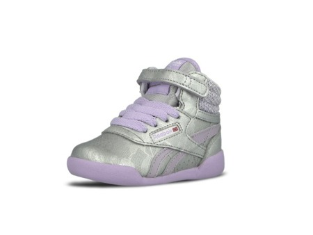 REEBOK FREESTYLE HI SP Silver/Purple Kids (AR0734)