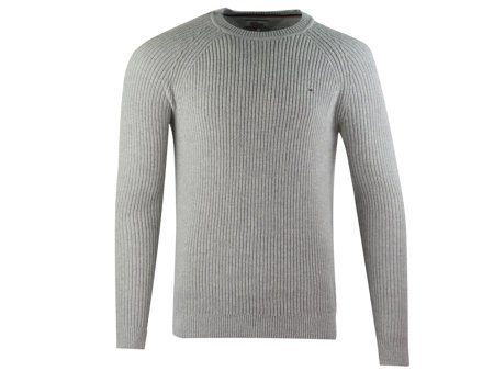 Tommy Hilfiger - Rib Cn Sweater DM0DM02742-038 - Sweater - Grey