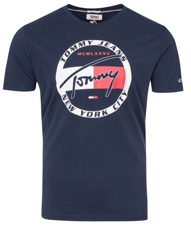 Tommy Jeans - Circle Graphic Tee DM0DM06081 - T-shirt - Navy